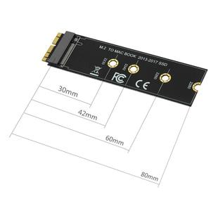 Image 2 - M מפתח M.2 עבור NGFF PCIe SSD מתאם כרטיס עבור Apple MACBOOK AIR 2013 ~ 2017 A1465 A1466 פרו A1398 a1502 A1419 2230 2280 SSD