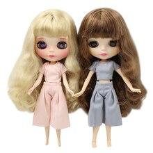 DBS blyth Doll buzlu pembe takım elbise gri takım elbise pantolon elbise
