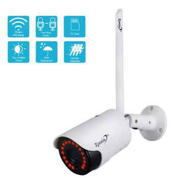 Zjuxin 1080P IP AI Camera HD Cloud Wireless Wifi Outdoor Weatherproof Infrared Night Vision Security Camera With TF Slot