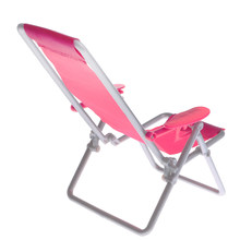 1/6 Scale Miniature Deck Chair For Dolls House Kitchen Dining Room Decoration Accessories(China)