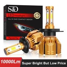 LED سيارة المصابيح الأمامية H1 H3 H4 LED H7 H11 HB3 9005 HB4 9006 H13 9004 HB1 9007 HB5 9012 HB2 10000LM السيارات الضباب ضوء مصباح 60W 12V