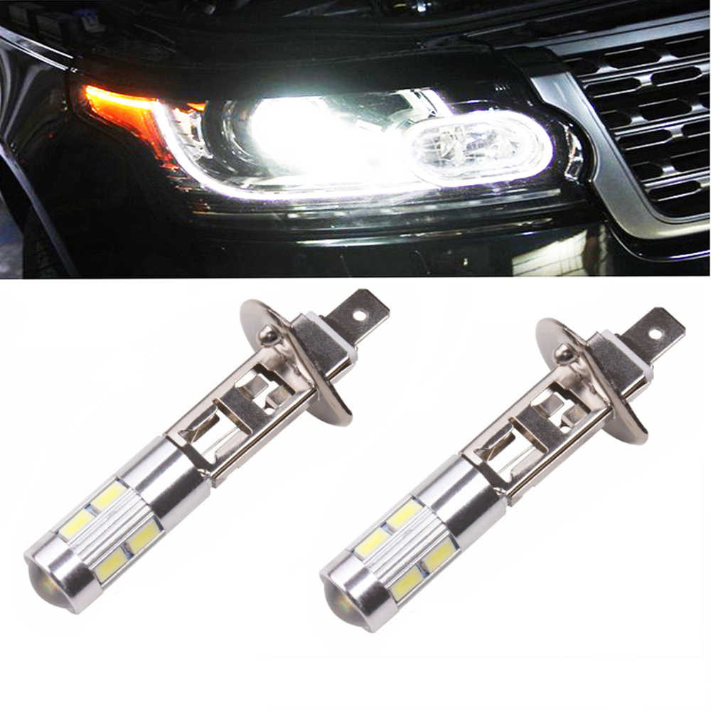 H1 LED Car Lamp Fog Driving Light Bulb Headlight Headlight Driving Bulb Car Accessories 6000K DC 12V 5630 SMD 10 LED H1