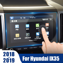 Accessories For Hyundai IX35 2018 2019 Car GPS Navigation Tempered Glass Screen Protector Steel Protective Film
