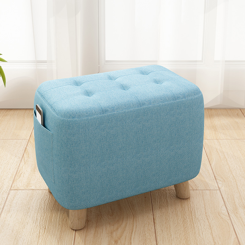 Small Stool Household Creative Small Stool Stool Stool Solid Wood Sofa Shoes Stool Door Footstool Cute Little Chair