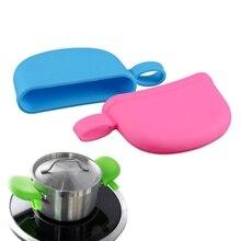 Силиконовая крышка ручки горшка с подвесным отверстием противоскользящая Бытовая крышка ручки горшка изоляция кухонные принадлежности