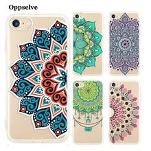 Oppselve Soft TPU Retro Case For iPhone 6 S 6S 7 8 Plus Floral Paisley Flower Mandala Henna Clear Silicone Cover Coque Capinhas