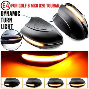 Image 1 - For VW GOLF 6 MK6 GTI R32 08 14 Touran LED Dynamic Turn Signal Light Side Wing Rearview Mirror Indicator Lamp With Bottom Shell