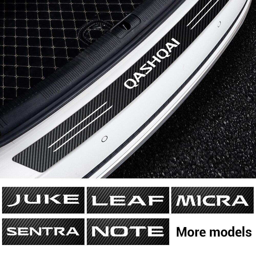 Автомобильный задний бампер, багажник, защитная наклейка из углеродного волокна для Nissan Nismo Tiida Teana Juke X-trail Qashqai Leaf Micra Sentra NOTE и т. д.
