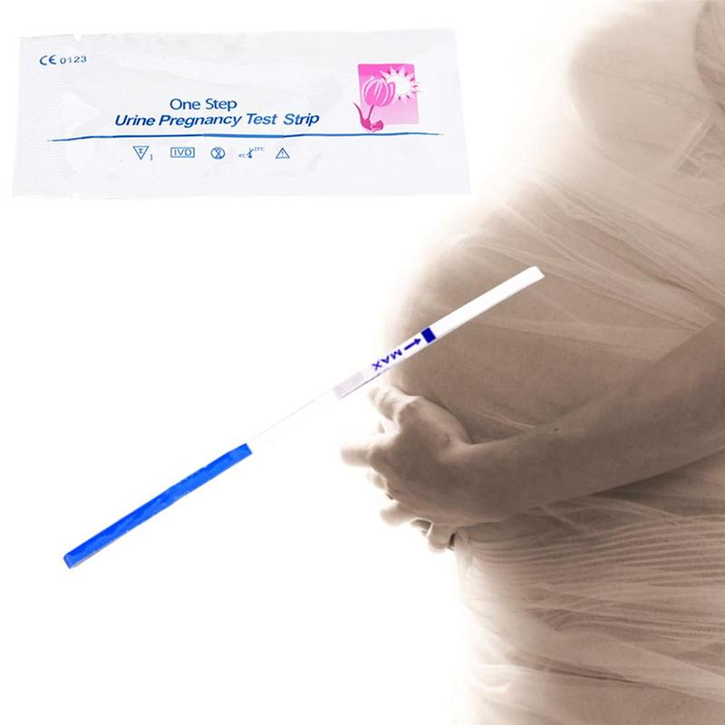 1pcs private early pregnancy test strips women urine halfway pregnant adult woman test card Rapid test predictor image