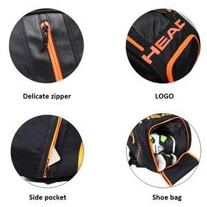 Image 3 - Head Tennis sac grande capacité raquette sac à dos avec chaussures sac peut contenir 6 9 raquettes grands sacs hommes Raquete De Tennis