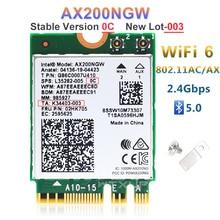 NGFF محول لاسلكي AX200NGW إنتل واي فاي 6 AX200 2400Mbps بطاقة الشبكة 2.4G/5Ghz 802.11ac/ax واي فاي بلوتوث 5.0 MU MIMO