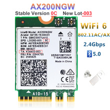 NGFF Wireless adapter AX200NGW For Intel wifi 6 AX200 2400Mbps network card 2.4G/5Ghz 802.11ac/ax Wi fi Bluetooth 5.0 MU MIMO