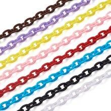 10 прядей красочные diy цепи пластиковые кабельные звенья для