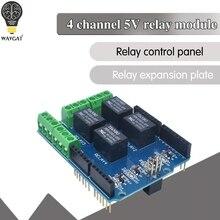 Module de bouclier de relais 5v à 4 canaux, carte d'extension de relais de carte de commande de relais à quatre canaux pour arduino UNO R3 mega 2560