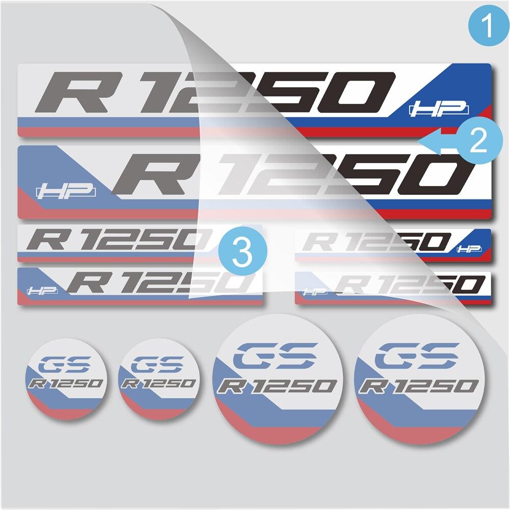 caixa logotipo decalques kit conjunto para bmw r1250 hp r1250gs r1250gs hp