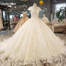 LS32100 big puffy skirt ball wedding dress o neck cap sleeves 3d flowers china online shop quick shiping свадьба