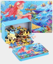 Kids Jigsaw Puzzle Set 60 Pieces Baby Toys Dinosaur Fairy Tale Sleeping Beauty Educational Toys for Children Gift цена