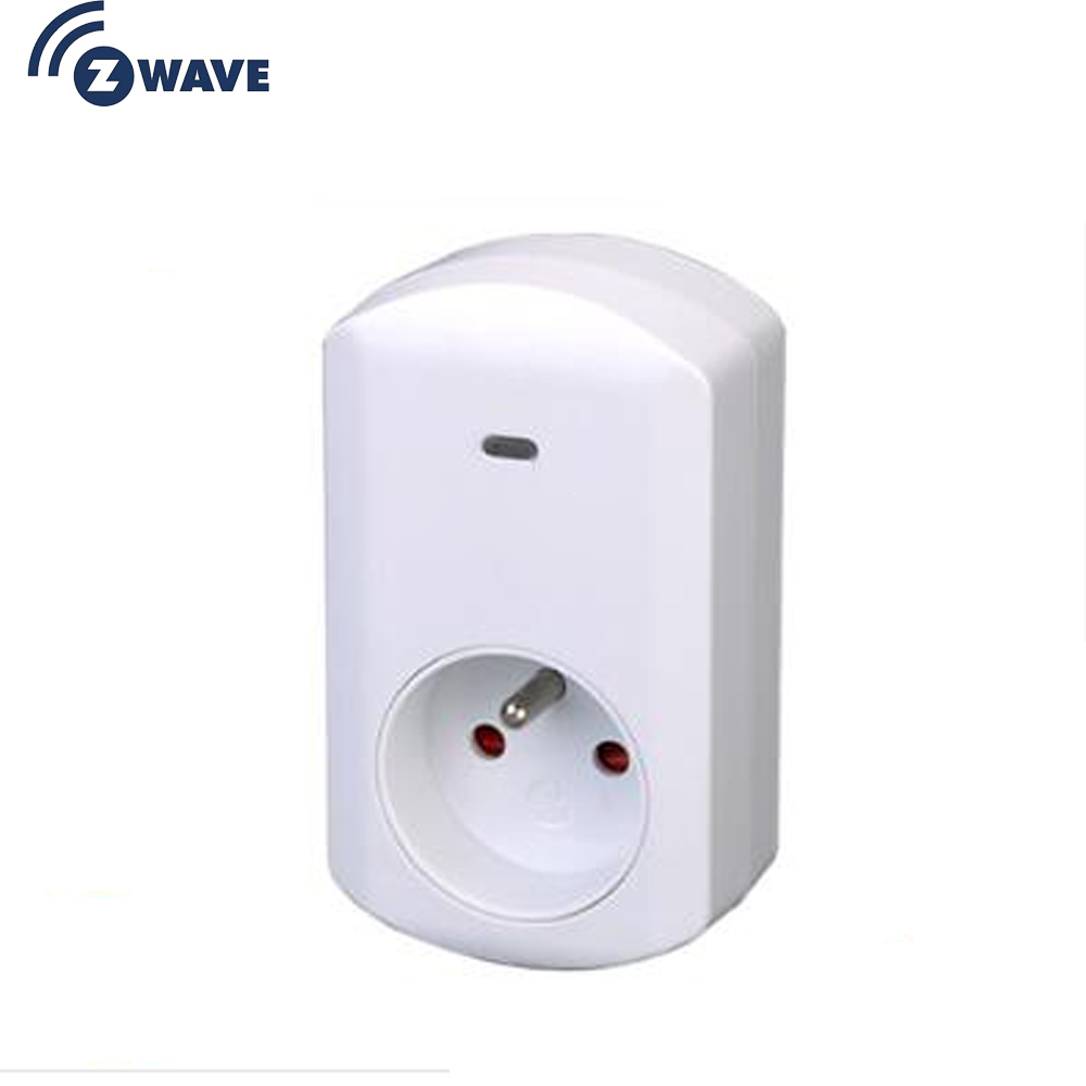 Haozee Z-Wave Smart Energy Plug In With Meter Function French Type Plug-in ON/OFF Z Wave 868.4MHz Video Frequency