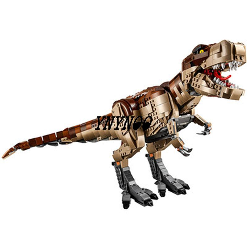 2019 Jurassic World T.REX RAMPAGE Building Blocks 2 Dinosaur Figures Bricks Lepining 75936 Toys For Children 2