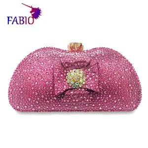 Image 5 - Nigeria evening dress flower desgin Beautiful womens Bag with diamonds Good quality lady Bag