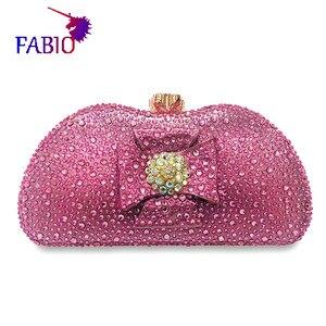 Image 5 - 나이지리아 이브닝 드레스 꽃 desgin 다이아몬드와 함께 아름 다운 여자 가방 좋은 품질 숙 녀 가방
