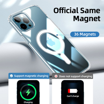 Прозрачный Магнитный чехол Joyroom для телефона iPhone 12 Pro Max 12 Mini 3