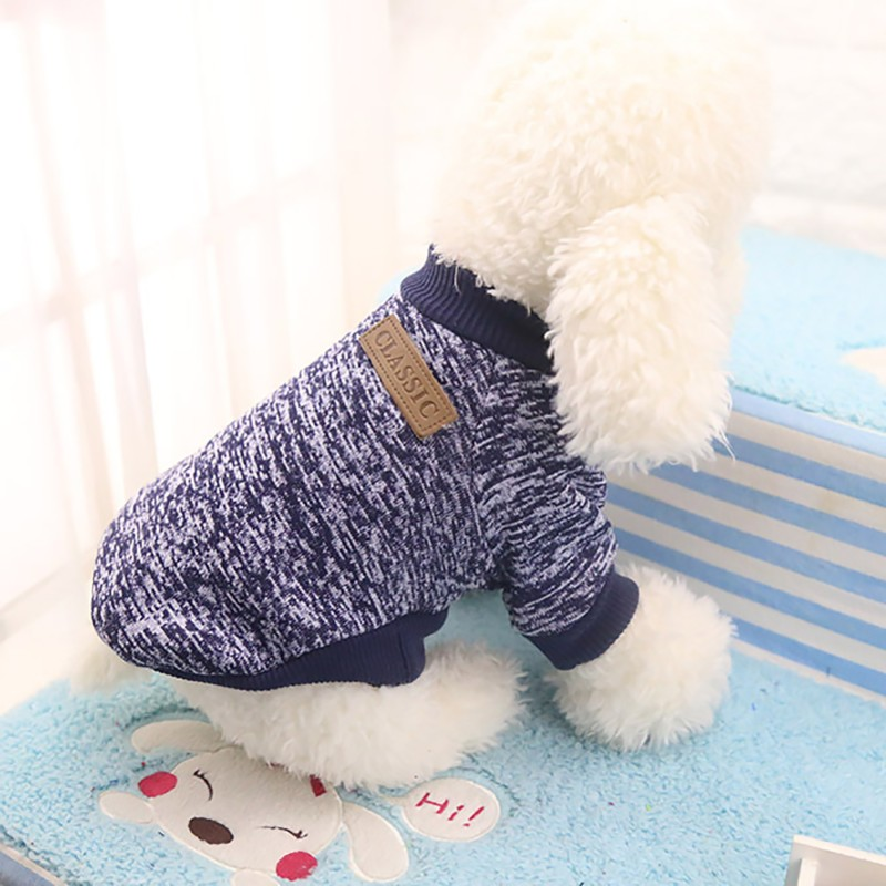 Autumn Winter Warm Dog Clothes For Small Medium Soft Dog Sweater Clothing Winter Chihuahua Clothes Classic Pet dog accessories (2)