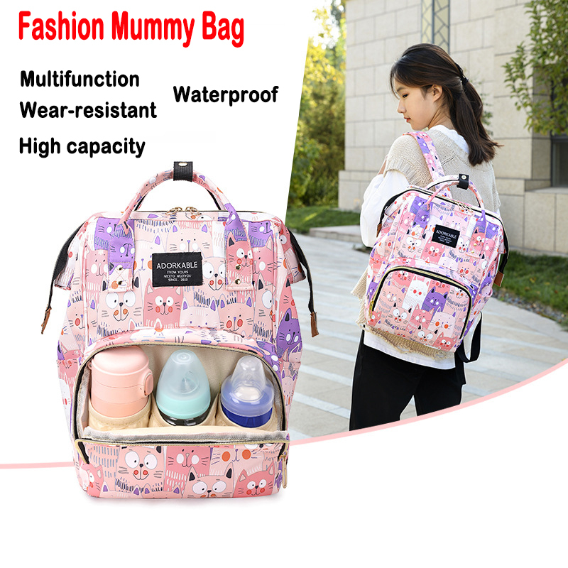 Baby Diaper Bag Fashion Mummy Maternity Nappy Bag Backpack For Moms Multifunction Baby Diper Bag Waterproof  Mommy Changing Bags