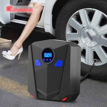 Car Portable mini Electric Tyre Air Pump Compressor 12V Digital Preset Tire Pressure Pump Inflator electrico 120W Power DC12V
