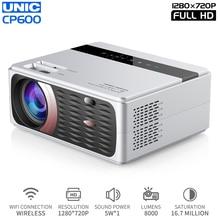 UNIC Neue CP600 LED 8000 Lumen Projektor 4K 1080P Full HD HDMI WIFI LCD Heimkino Film Beamer android Proyector 150 Bildschirm