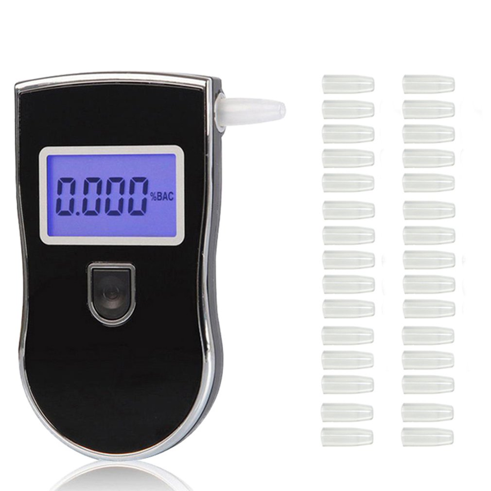 LCD Display Alcohol Tester To 818 Ethylotest Police Digital Detector Professional and 30/20 pcs nozzles Dropshipping
