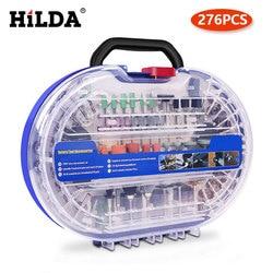 HILDA — Accessoires pour outil rotatif, jeu de mèches, kit d'outils abrasifs, pour meulage, polissage, découpage, pour Dremel, 276 pièces