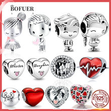 Hot Sale boy and girl forever family tree lock heart LOVE Beads fit Original Pandora Charms Silver 925 Women Pandora jewelry box