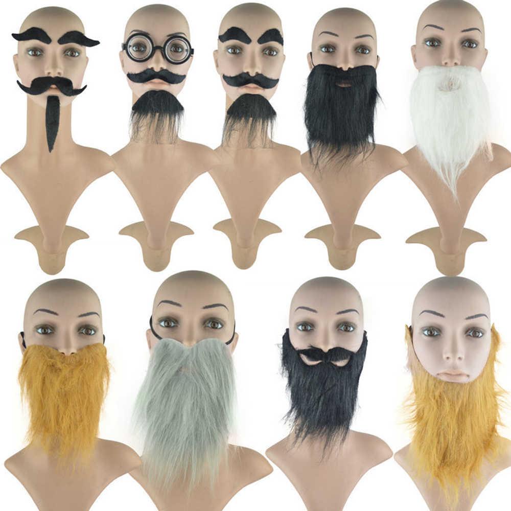 Wąsy fałszywe broda kostium bal rekwizyty wąsy włosów na twarzy strona dekoracji śmieszne Pirate Halloween czarny symulacja tańce
