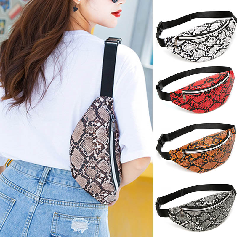 Women's Printed Pattern Bags Outdoor Sports Bags Personalized Fashion Shoulder Chest Package H66