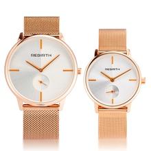 купить Couple Watch Luxury Casual Ladies Watch Waterproof Rose Gold Steel Mesh Quartz Watch Women Fashion Dress Watches Clock For Male дешево