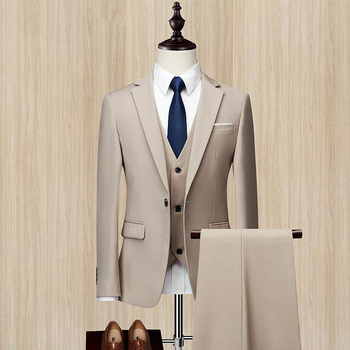 2020 nowe dwuczęściowe garnitury męskie garnitury ślubne Groomsmen Casual męskie garnitury spodnie zestawy tanie i dobre opinie NOBLE BRIDE Poliester Groom wear Przycisk fly Pojedyncze piersi 110704 Men Suits