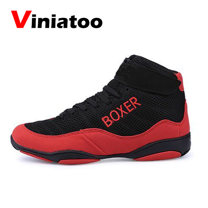New Professional Boxing Shoes Big Size 35-47 Anti Slip Wrestling Sneakers Breathable Mesh Flighting Footwears Mens Shoes