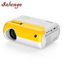 Salange мини светодиодный проектор, поддержка Full HD 1080p домашний кинотеатр, 3D видео проектор | Портативный светодиодный проектор для улицы