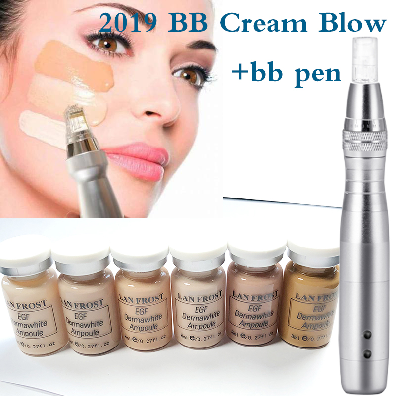 12pcs/box 8ml Bb Cream Glow Starter Kit Meso Bb Foundation Natural Nude Concealer For Skin Moisturizing Brightening Derma Pen
