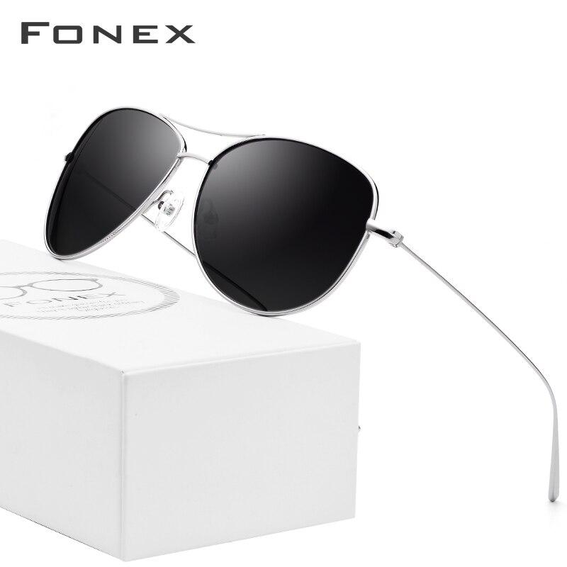 B Pure Titanium Sunglasses Men Ultralight Aviation Sun Glasses For Women Male 2018 Fashion Aviador Mirrored Polarized Sunglass