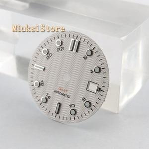 Image 2 - 1PCS 31.5mm סטרילי לבן שעון חיוג Fit ETA 2836/2824 DG2813/3804 Miyota 8215 821A 8205 אוטומטי תנועה p933 N