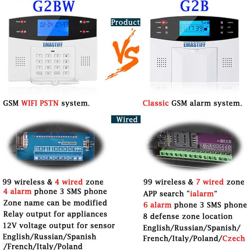 SNOWINSPRING APP Control Remoto Inteligente Wifi GSM Sistema Alarma 433MHz Sistema Inal/áMbrico de Seguridad para el Hogar 9 Idiomas