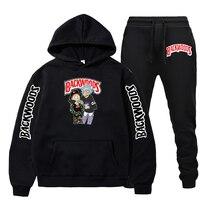 2021 conjuntos masculinos marca backwood conjuntos de fatos de treino com zíper masculino hoodies esportivos + calças define casual outwear ternos esportivos dos homens com capuz