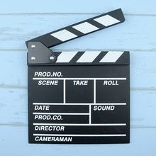 Director Video Acrylic Clapboard TV Film Movie Clapper Board Slate with Color Sticks 20*20cm(China)