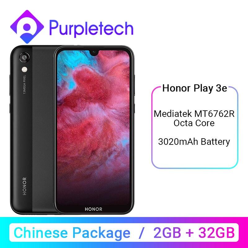 Original HONOR Play 3e 3 E MT6762R Helio P22 2GB 32GB Mobile Phone Octa Core 5.71 Inch 13MP Rear Camera Android 9.0 3020mAh