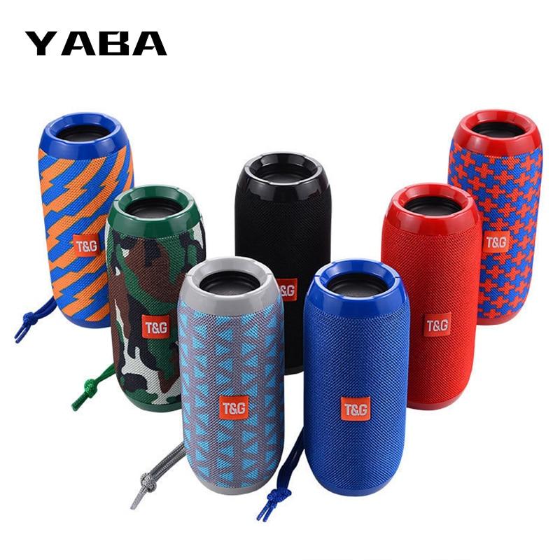 YABA Waterproof Bluetooth Speaker outdoor Rechargeable Wireless Speakers Portable Soundbar Subwoofer Loudspeaker TF MP3 Built-in(China)