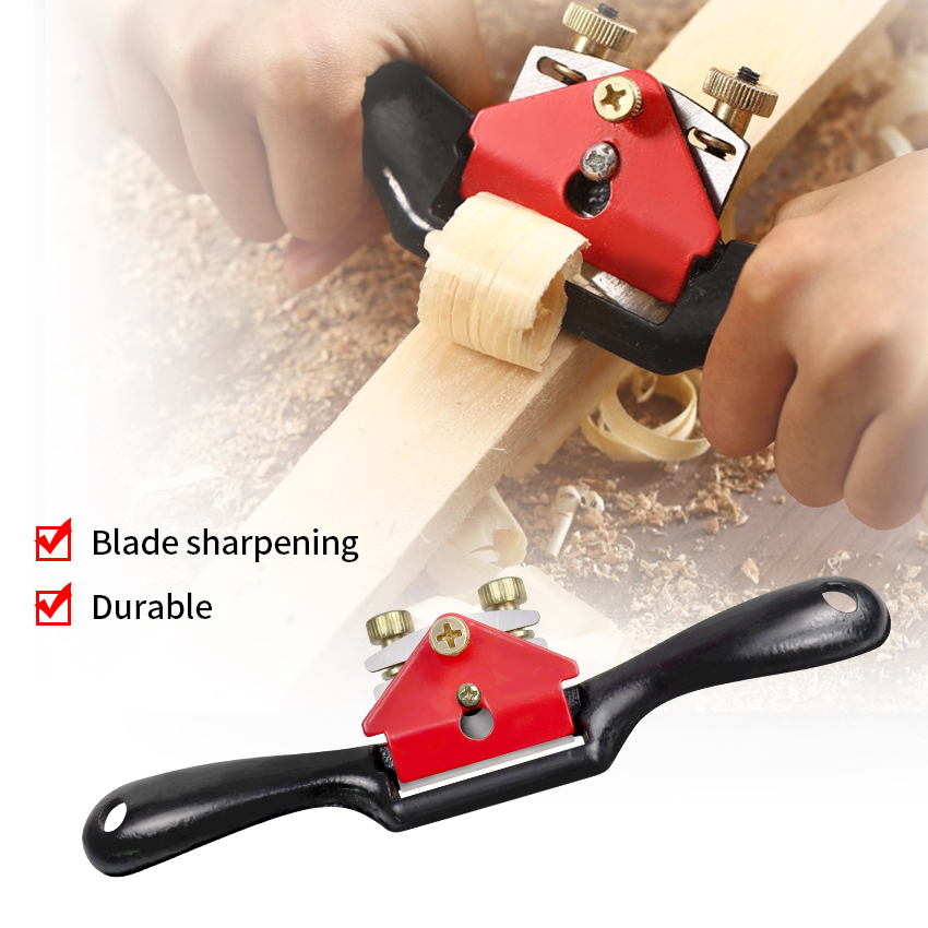 Adjustable Plane Spokeshave Woodworking Hand Planer Trimming Tools 9 Inch Wood Planer Steel Bird Planer Small Iron Hand Deepth