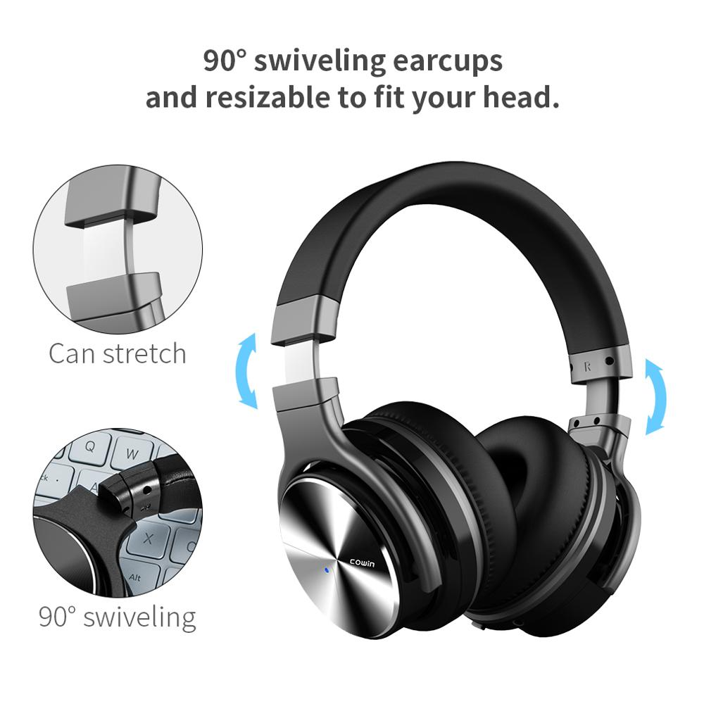 Cowin E7Pro Active Noise Cancelling Fone Bluetooth Headphones Wireless Over Ear Stereo gaming Headset with microphone for phone