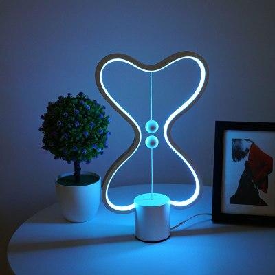 7 Color Changeable Heng Balance Lamp USB Powered Home Decor Bedroom Office Kids Desk Lamp Children Gift Christmas Night Lamp